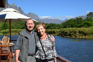 Dawn and Phil in Stellenbosch Wine Country