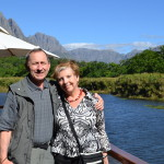 Dawn and Phil in Stellenbosch, Wine Country